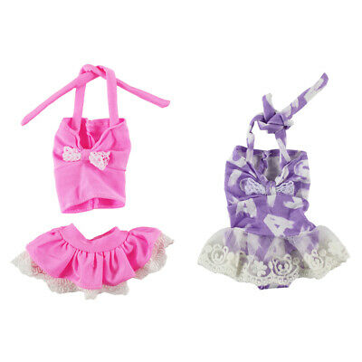 4 x14inch Doll Summer Party Outfit - Printed Bikini Swimwear for Wellie