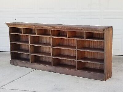 8ft antique primitive general store counter - hard yellow pine - apothecary