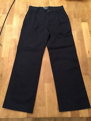 GG81 Polo Ralph Lauren Boys Sz/Age 6 Navy Cotton Chino Smart Trousers Vgc