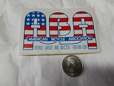 ABA BMX Old School American Bicycle Association Decal Racing Race