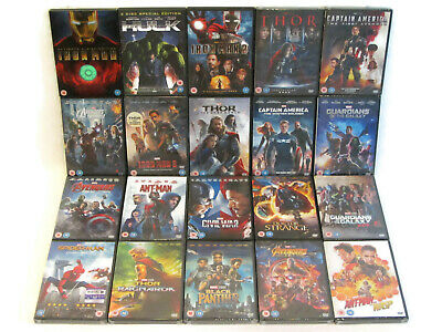 Marvel Cinematic Universe MCU Phase 1 2 3 DVD Bundle X20 Wasp Panther Homecoming