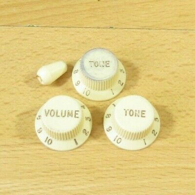 Fender Road Worn 60s 62 Stratocaster Knobs Fender Vintage RI Strat Knobs Global