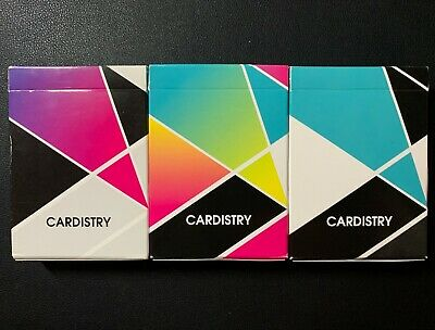 Set of 3 BOCOPO Cardistry Playing Cards USPCC - Fanning, Color, Turquoise