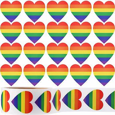 Support LGBT Causes Ruisita 500 Pieces Gay Pride Stickers Love Pride Self Adhesive Stickers