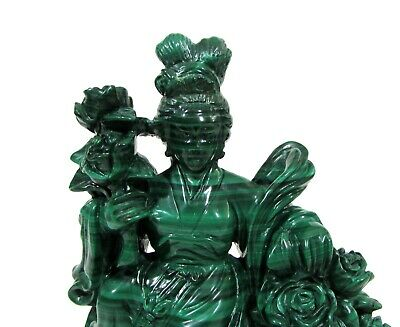 Chinese malachite statue