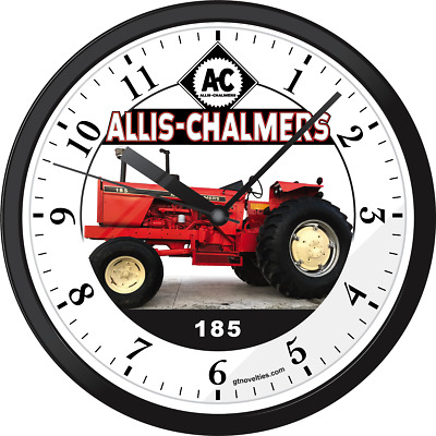ALLIS CHALMERS 185 Farm Agriculture Garden Tractor Wall Hanging Clock Parts  180