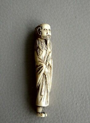 SALE! Japanese Antique netsuke Funny Hotei with bag mid Edo period 18С