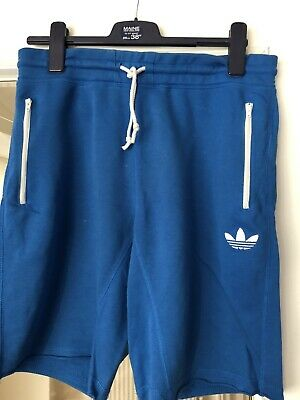 6f2597c3c adidas Originals Mens Jog Shorts Blue Sweat Pant Cotton Shorts Medium