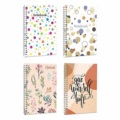 2020 A5 Week To View Spiral Bound Diary Hardback Cover & Pvc Wiro Bound cover