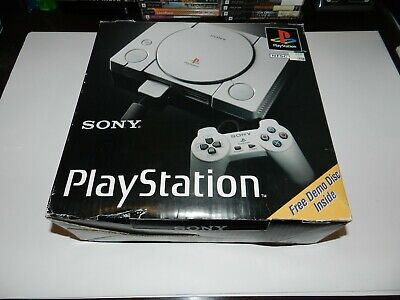 Sony Playstation 1 PS1 System Console Complete In Box SCPH-1001 CIB + Games MINT
