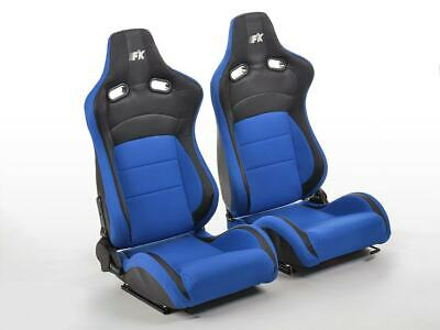 FK sport seats half bucket seat set Köln faux leather & textile black & black