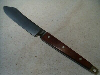 """Used Vintage 13"""" EKCO FLINT Stainless Steel Butcher Knife Made in USA"""