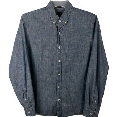 4e08b277 J. Crew Denim Shirt Mens Medium Slim Fit Blue Jean Button Down Shirt Fast  Ship