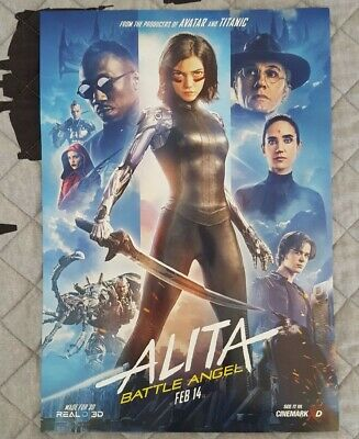 ALITA BATTLE ANGEL 2019 Exclusive Original Cinemark XD Promo Mini Movie Poster