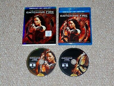 The Hunger Games: Catching Fire Blu-ray/DVD Combo 2014 with Slip Cover Canadian