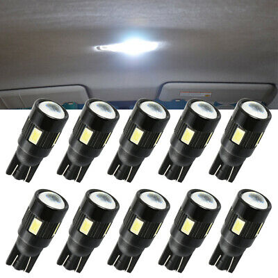 10x T10 LED Error Free Bulbs 6 SMD W5W Canbus Car Interior Lights Side Light UK