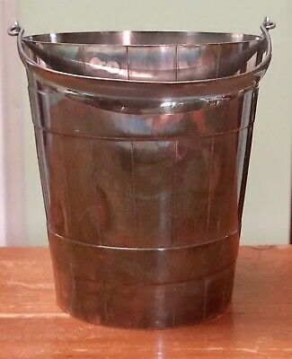 Beautiful Antique English Silver Plate William Hutton & Sons Bar Ice Bucket