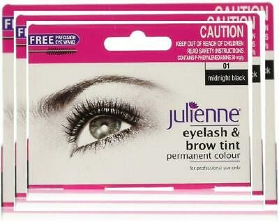 Julienne Eyelash and Eyebrow Permanent Midnight Black 01
