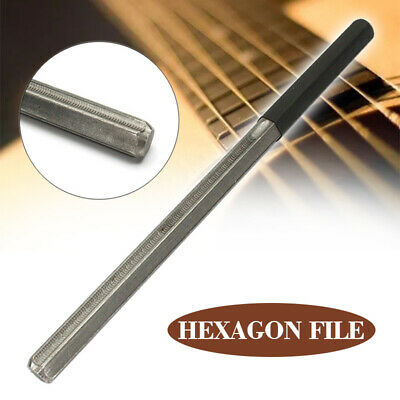 US Quality Guitar Fret Crowning File Hexagon File With 3 Size Edges Luthier Tool