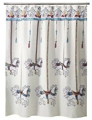 Polyester Hello Kitty /& Me Butterflies And Bows Whimsical Fabric Shower Curtain