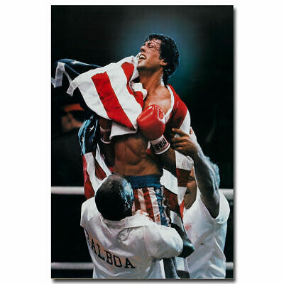 Rocky Balboa Classic Movie Sylvester Stallone Art Silk Poster 12x18 24x36