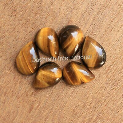 Tiger Eye Gemstone Tiger Eye Cabochon Pear Shape Tiger Eye Cab Gemstone For Ring