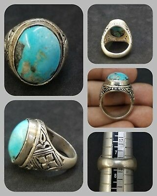 Solid silver with Persian turquoise stone wonderful ring