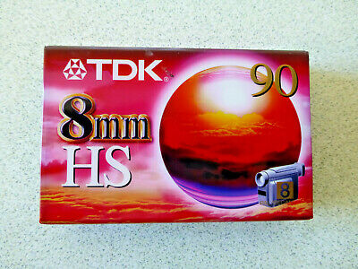 TDK 8MM HS 90 Video Camera/Camcorder Blank Tape.Brand New in Plastic.