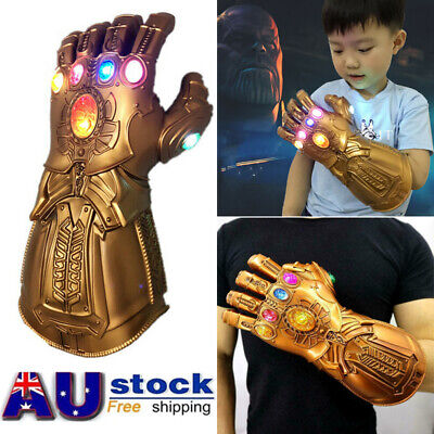 Figure & LED Light Thanos Infinity Gauntlet Marvel Legends Gloves Avengers Kids