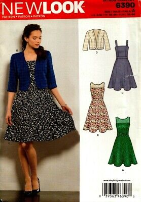 New Look Sewing Pattern 6390 Womens Dress Size 8-18 NEW