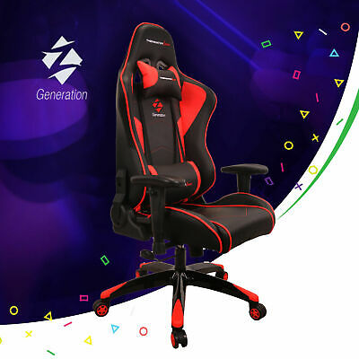 Red Gaming Racing Chair Ergonomic Office Sport Z-Generation ECO Leather