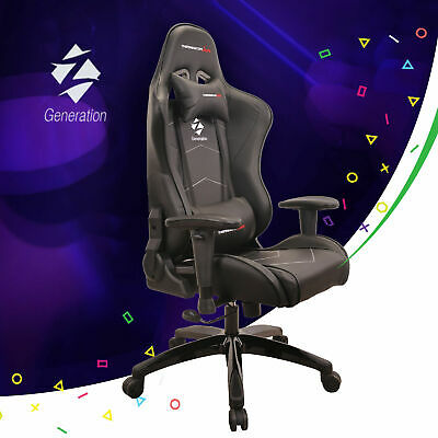 Black Gaming Racing Chair Ergonomic Office Sport Z-Generation ECO Leather