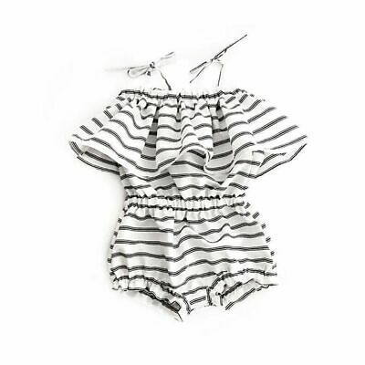 Fashion Sweet Newborn Baby Girl Striped Romper Bodysuit Jumpsuit Clothes Outfits
