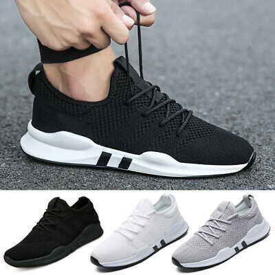 Mens Womens Trainers Pumps Sports  Lace Up Running Gym Sneakers Mesh Shoes UK