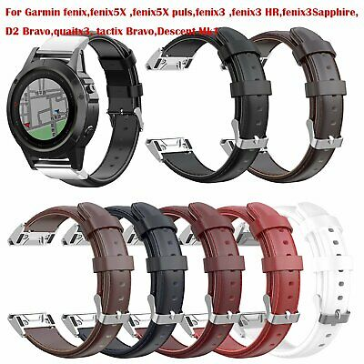 26mm Genuine Leather Watch Band Strap Watchband NEW For Garmin fenix,fenix5X