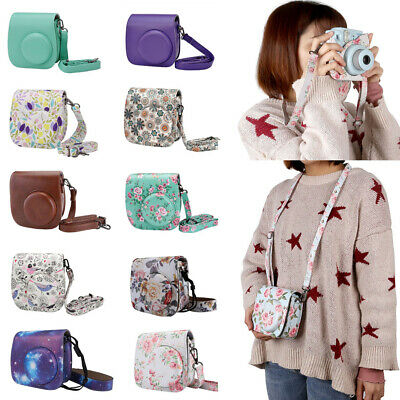 Camera Case For Instax Mini 8/Mini 9 PU Leather Shoulder Crossbody Bag Cover