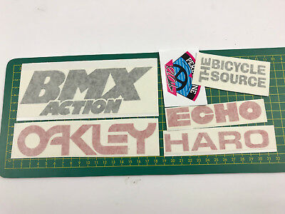 old school bmx decals stickers forklifter race plate sticker set1 teal white