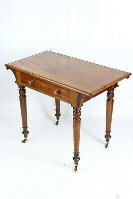 Small Victorian Mahogany Writing Table - Antique Desk Chest Bureau Hall Console