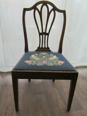 Antique Hepplewhite Period Wheatsheaf Side Bedroom  Chair 18th Century Delivery