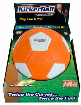 KickerBall Kids Childrens Play Trick Shots Curves Swerves Football Soccer Ball
