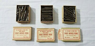 3 x Opened Boxes of M.Meyer & Son Post Office Pen NIbs