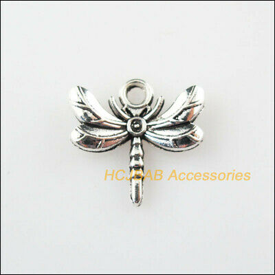 16 New Animal Dragonfly Charms Tibetan Silver Tone Pendants 16x17mm