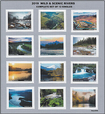 *NEW* 2019  Wild and Scenic Rivers (Complete Set of 12 Singles) 2019 Mint NH
