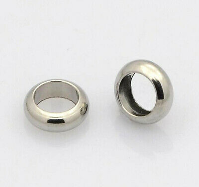 100pcs silver-tone Wheel Beads Spacers H0492