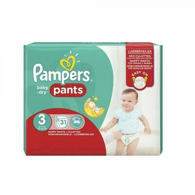 Pampers Baby Dry Pants taille 3 Midi 6–11 kg Lot de 31 couches