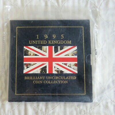 UK 1995 ROYAL MINT BRILLIANT UNCIRCULATED 8 COIN SET WITH £2 - still mint sealed