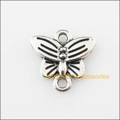 18 New Animal Butterfly Charms Connectors Tibetan Silver Tone Pendants 14mm