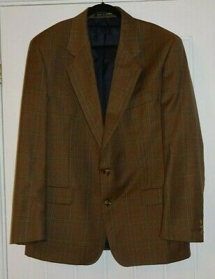 "Vintage Brook Taverner Brown Prince of Wales Check Sports Jacket size 42"" Chest"
