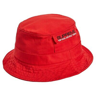 76e47df8 Supreme Men's Authentic Pocket Crusher Size Small/Medium Red Bucket Hat