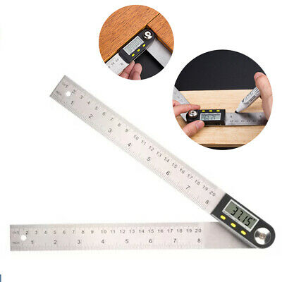 200mm Digital Angle Finder Ruler Protractor Measure Meter Plastic Tool US P9L3G